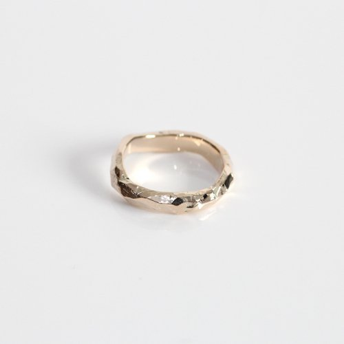 MIKU FUKAMITSU(ミク フカミツ) / 風化 (岩のリング) / (ゴールド / k10)