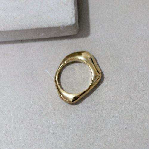 MIKU FUKAMITSU(ミク フカミツ) / 水溜りのリング L / (ゴールド / k18pt)