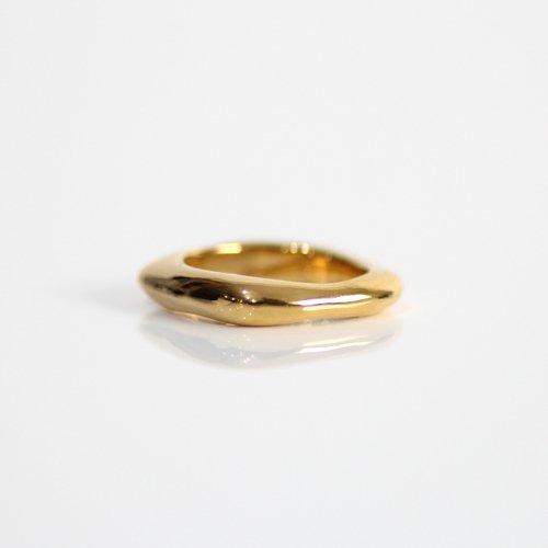 MIKU FUKAMITSU(ミク フカミツ) / 水溜りのリング S / (ゴールド / k18pt)