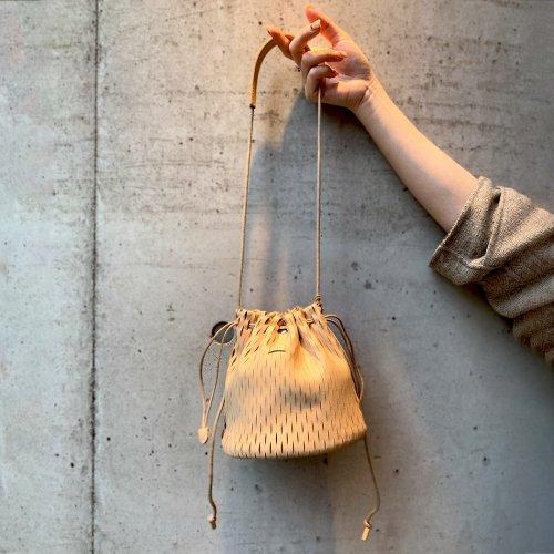 i ro se / BAG-N07 net bucket mini bag レザー ネット バケットバッグ ミニ - 全2色