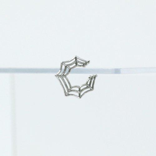 yum. (ヤム) / silver シルバー 蜘蛛の巣 ミニ イヤーカフ / Ec-04a-Ag925