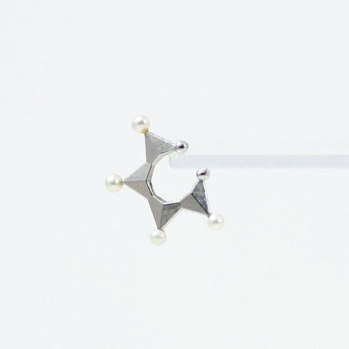 yum. (ヤム) / silver シルバー スター ミニ イヤーカフ パール付き / Ec-07a-Ag925