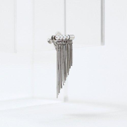 yum. (ヤム) / silver シルバー フリンジ パール イヤリング (片耳タイプ) / E-34a-Ag925