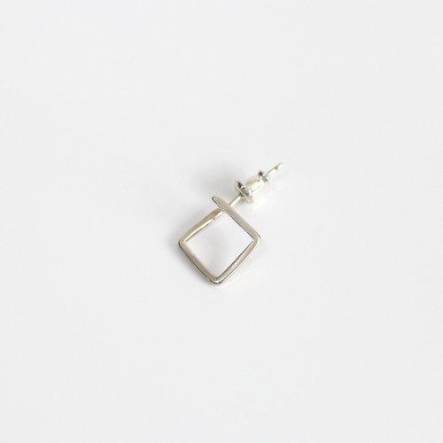 UNKNOWN. / silver925 U348 SHIKAKU ピアス - シルバー (片耳タイプ)