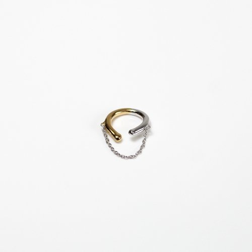 Lamie Lamie / silver K18 チェーン イヤーカフ (M) MIX / E403_Earcuff_M_MIX<img class='new_mark_img2' src='//img.shop-pro.jp/img/new/icons7.gif' style='border:none;display:inline;margin:0px;padding:0px;width:auto;' />