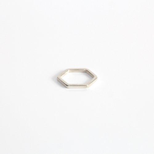 UNKNOWN. / silver925 U052 6CORNER リング - シルバー HIGH QUALITY LINE