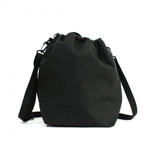 This is... (ディスイズ) / Cordura Drawstring Shoulder Bag コーデュラドローストリングショルダーバッグ - ブラック