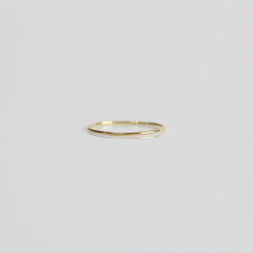 hirondelle et pepin(イロンデールエペパン) / hr-8-8-198 k18 極細プレーンリング S
