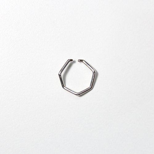 siki(シキ) / silver 七角形イヤーカフ シルバー L / NNK-EC01L-SV
