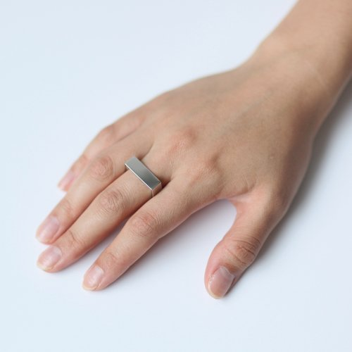revie objects(レヴィオブジェクツ) / CO1-07 〈CORNER〉 2 wide ring ワイドリング - シルバー