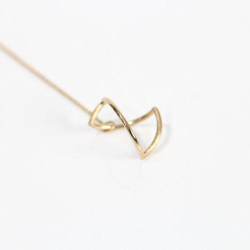 revie objects(レヴィオブジェクツ) / AN2-03 〈ANALYZE〉 ●long earring mini アナライズ マル ロングピアス ミニ (片方タイプ)