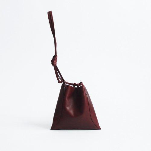 【完売】MARROW(マロウ) / MA-AC8106 / PILLOW-3 レザー 巾着型ハンドバッグ - マルーン