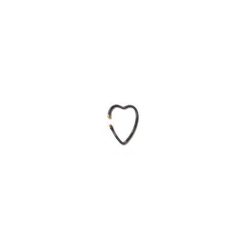 KIKKOU(キッコウ) / no.83 heart ハート イヤーカフ - ダークグレー