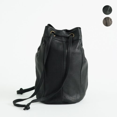 SEASIDE FREERIDE(シーサイドフリーライド) / シープレザー 2way 巾着型 ミニバッグ ONI BAG - 全2色