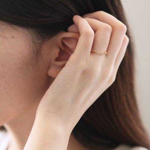 【廃番商品】hirondelle et pepin(イロンデールエペパン) / k18 hr-20ss-556 ツイスト リング / ダイヤモンド