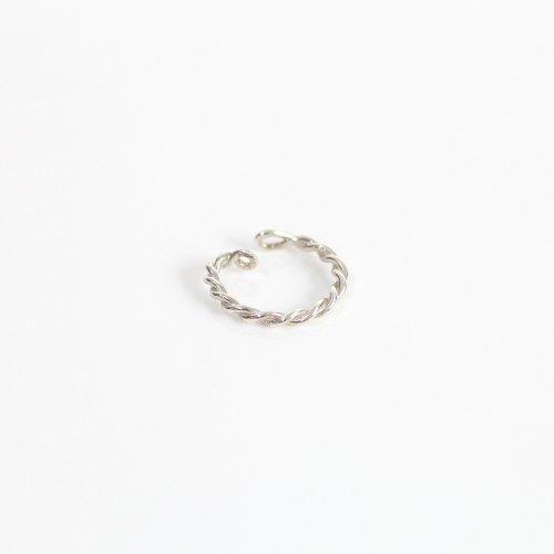 【廃番商品】hirondelle et pepin(イロンデールエペパン) / silver se-20ss-06 ツイスト イヤーカフ M / シルバー