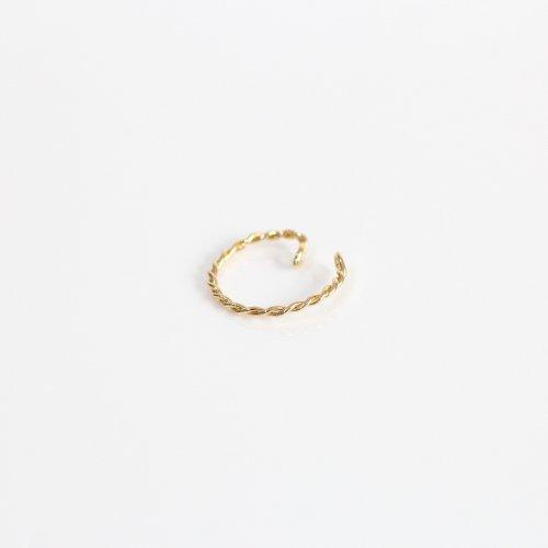 【廃番商品】hirondelle et pepin(イロンデールエペパン) / k18 he-20ss-08 ツイスト イヤーカフ M / ゴールド