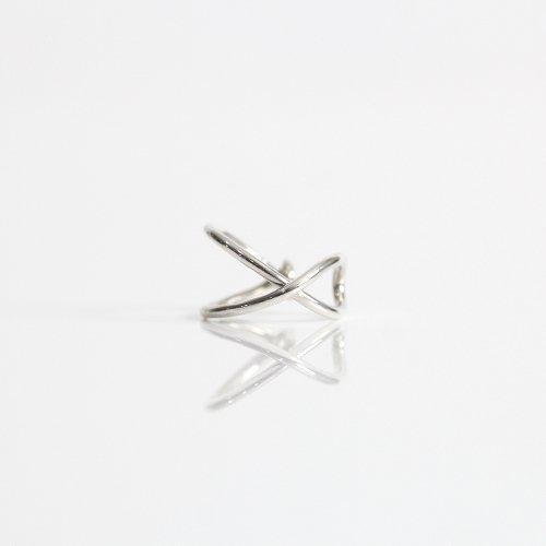 【廃番商品】hirondelle et pepin(イロンデールエペパン) / silver se-20ss-08 クロス イヤーカフ M / シルバー