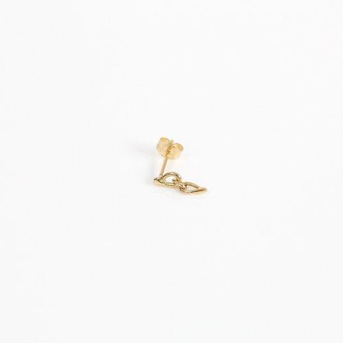 【廃番商品】hirondelle et pepin(イロンデールエペパン) / k18 hp-20ss-634 コネクト ミニチェーン ピアス (片耳タイプ)