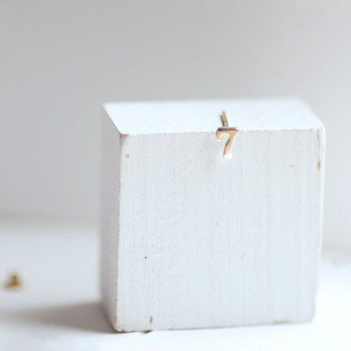 hirondelle et pepin(イロンデールエペパン) / silver sp-20ss-24 ナンバー ピアス / シルバー (片耳タイプ)