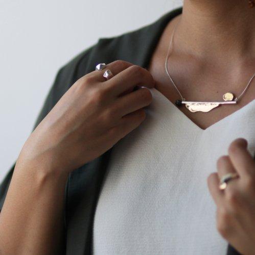 MIKU FUKAMITSU(ミク フカミツ) / つたえるネックレス (silver925 / k18pt)
