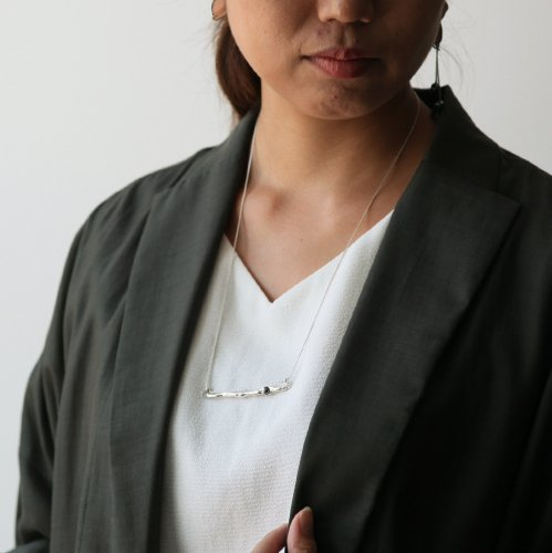 MIKU FUKAMITSU(ミク フカミツ) / つながるネックレス  / (シルバー  / silver925 / ヘマタイト)