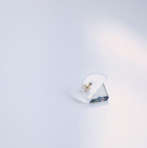 Luce macchia(ルーチェマッキア) / agate glass アゲート ガラス ピアス (片耳タイプ)