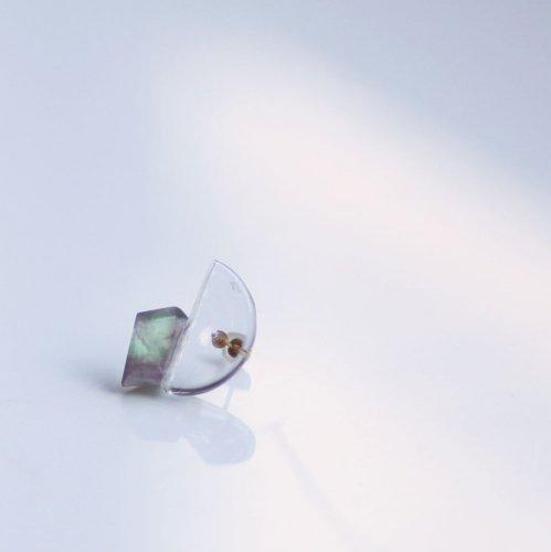 Luce macchia(ルーチェマッキア) / florlite glass フローライト ガラス ピアス (片耳タイプ)