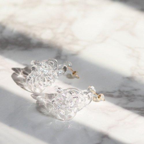 Luce macchia(ルーチェマッキア) / surge ring pierce bubble サージ リング ピアス - バブル (両耳タイプ)