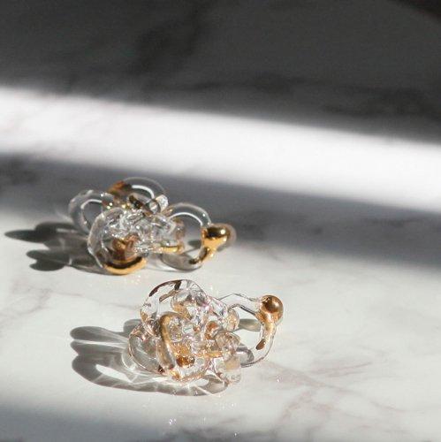 Luce macchia(ルーチェマッキア) / surge ring pierce gold サージ リング ピアス - ゴールド (両耳タイプ)