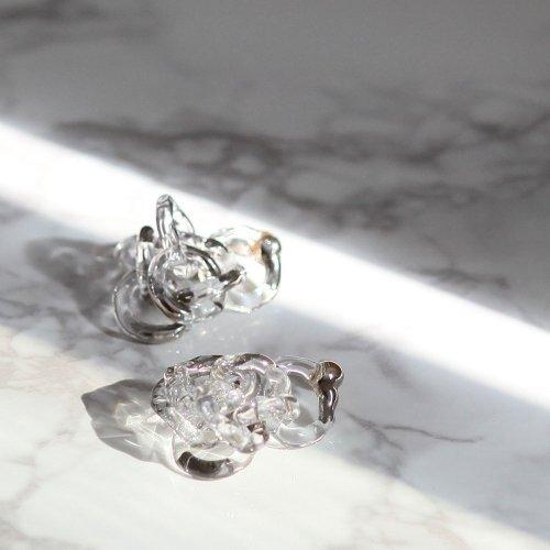 Luce macchia(ルーチェマッキア) / surge ring pierce platinum サージ リング ピアス - プラチナ (両耳タイプ)