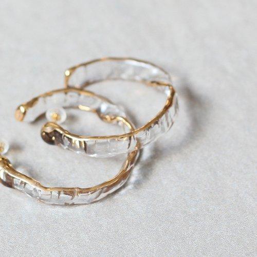 Luce macchia(ルーチェマッキア) / hoop mobius pierce gold フープ メビウス ピアス - ゴールド (両耳タイプ)