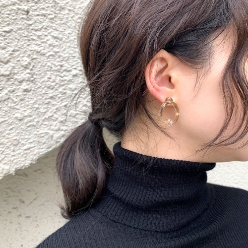 Luce macchia(ルーチェマッキア) / mobius pierce gold メビウス ピアス - ゴールド (両耳タイプ)