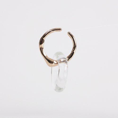 Luce macchia(ルーチェマッキア) / honey drop cuff glass ハニー ドロップ カフ ガラス イヤーカフ (片耳タイプ)