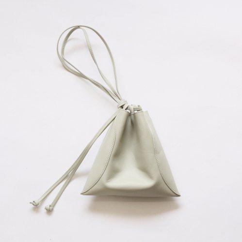 【完売】MARROW(マロウ) / MA-AC8106 / PILLOW-3 レザー 巾着型ハンドバッグ - ウィローグリーン