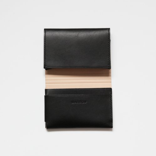 MARROW(マロウ) / MA-AC0105 / CARD CASE レザー カードケース - ブラック