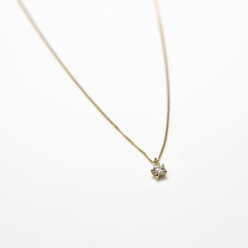 hirondelle et pepin(イロンデールエペパン) / k18 hn-20fw-538 5つ爪ダイヤ ネックレス / ゴールド