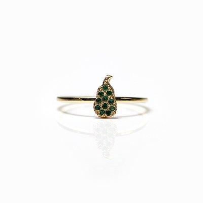 hirondelle et pepin(イロンデールエペパン) / k18 hr-20fw-564 フルーツパヴェ pear 梨 リング / ゴールド