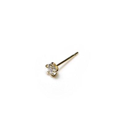 hirondelle et pepin(イロンデールエペパン) / k18 hp-20fw-640 5つ爪ダイヤ ピアス / ゴールド (片耳タイプ)