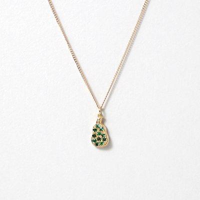 hirondelle et pepin(イロンデールエペパン) / k18 hn-20fw-541 フルーツパヴェ pear 梨 ネックレス / ゴールド