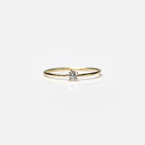 hirondelle et pepin(イロンデールエペパン) / k18 hr-20fw-560 5つ爪ダイヤ リング / ゴールド
