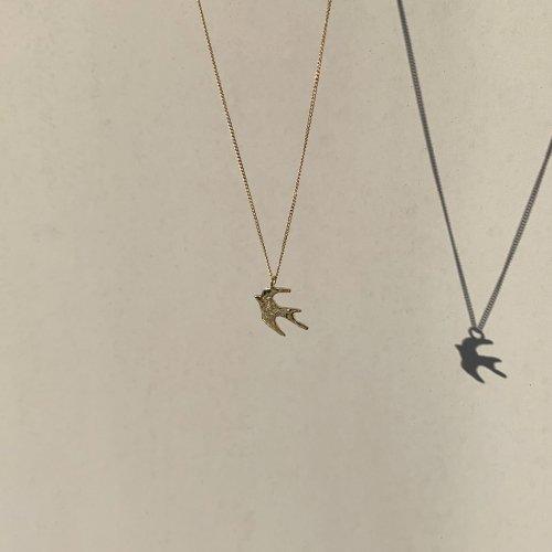 hirondelle et pepin(イロンデールエペパン) / k18 hn-20fw-544 hirondelle ツバメ ネックレス / ゴールド
