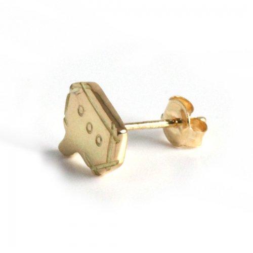 hirondelle et pepin(イロンデールエペパン) / k18 hp-20fw-649 speech bubble 角ふきだし ピアス / ゴールド (片耳タイプ)