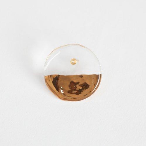 Luce macchia(ルーチェマッキア) / circle down  pierce gold サークル ダウン ピアス - ゴールド (片耳タイプ)