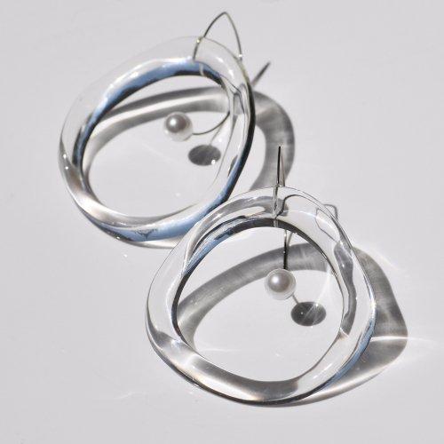 Iria Ashimine(イリア アシミネ) / CIRCLE' Transparent ピアス - CLEAR