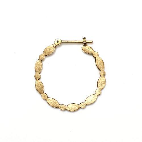 Perche?(ペルケ) / k18 maru oval hoop ピアス (片耳タイプ)