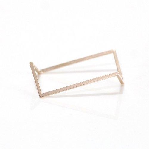 revie objects(レヴィオブジェクツ) / BR1-01 〈BREAK〉 ■double ring GLD ブレイクダブルリングゴールド