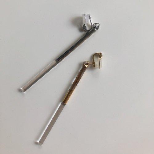 Luce macchia(ルーチェマッキア) / husky line up earring platinum ハスキー ライン アップ イヤリング - プラチナ (片耳タイプ)
