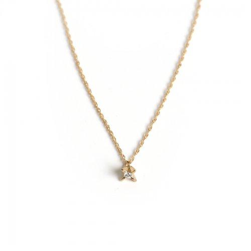 hirondelle et pepin(イロンデールエペパン) / k18 h-n-6-2-93 立て爪ネックレス
