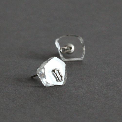 MIKU FUKAMITSU(ミク フカミツ) / 泡のピアス01 / (シルバー / SV / 水晶)